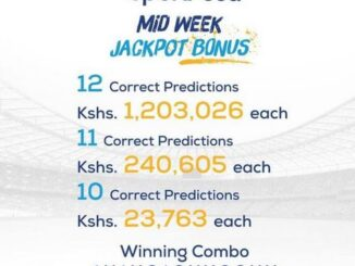 Sportpesa Midweek Jackpot Result, Winners and Bonuses